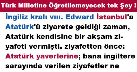 Türk Milletine Öğretilemeyecek tek Şey !