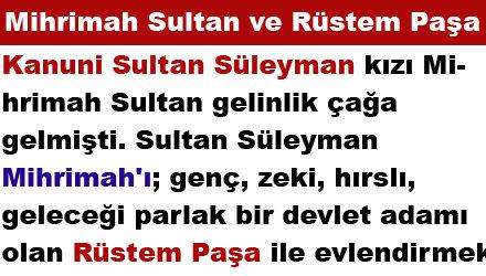 Mihrimah Sultan ve Rüstem Paşa