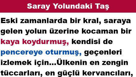 Saray Yolundaki Taş