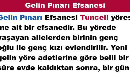 Gelin Pınarı Efsanesi