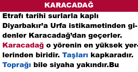 KARACADAĞ