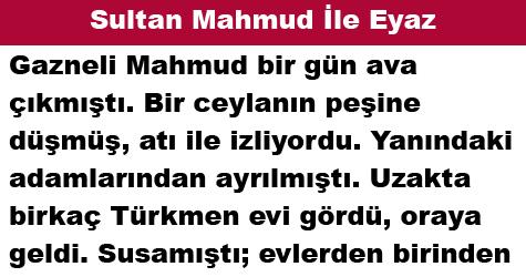 Sultan Mahmud İle Eyaz